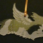 Acrylic Winged Cavalier King Charles Spaniel ornament