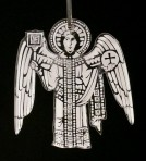 Acrylic Medieval Angel Ornament