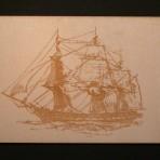 Sailing Frigate Postcard