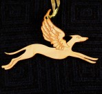 Wooden Winged Greyhound ornament
