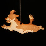 Wooden Springer Spaniel Ornament