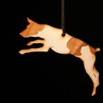 Wooden Jack Russel Terrier ornament