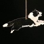 Acrylic Border Collie ornament
