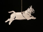 Acrylic Pug ornament