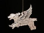 Acrylic Winged Cocker Spaniel ornament