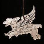 Acrylic Winged Cocker Spaniel ornament