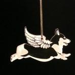 Acrylic Winged Corgi Ornament