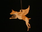 Wooden Winged Jack Russel Terrier ornament