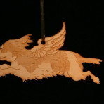 Wooden Winged Cavalier King Charles Spaniel ornament