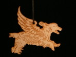Wooden Winged Cocker Spaniel ornament