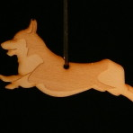 Wooden Corgi Ornament