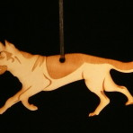 Wooden German Shepherd / Alsatian ornament