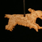 Wooden Cocker Spaniel ornament