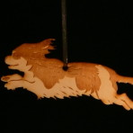 Wooden Cavalier King Charles Spaniel ornament