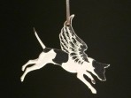 Acrylic Winged Jack Russel Terrier ornament