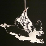 Acrylic Winged Springer Spaniel Ornament