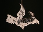 Acrylic Winged Yorkshire Terrier ornament