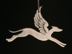 Acrylic Winged Greyhound ornament