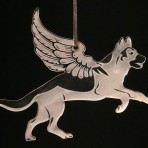 Acrylic Winged German Shepherd / Alsatian ornament