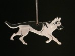 Acrylic German Shepherd / Alsatian ornament