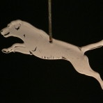 Acrylic Labrador Retriever ornament