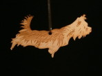 Wooden Yorkshire Terrier ornament