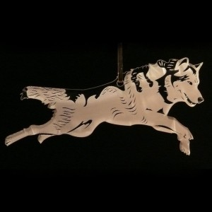 Acrylic wolf ornament