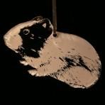 Acrylic Guinea Pig Ornament