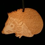 Wooden Hedgehog Ornament