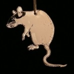 Acrylic Rat Ornament