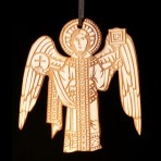 Wooden Medieval Angel Ornament