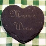 Personalised heart shaped coaster