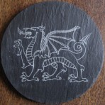 Welsh dragon coaster