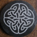 Celtic knot coaster