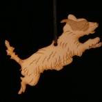 Wooden terrier ornament – 'Patch'