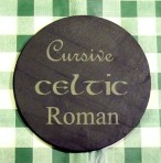 Personalised round coaster