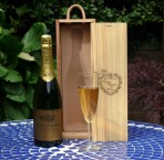 Champagne bottle box