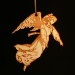 Wooden Victorian Angel Ornament