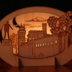 Cardiff Castle Candle Holder