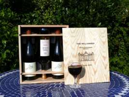 A personalised wooden wine box