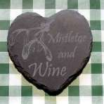 'Mistletoe and wine' coaster