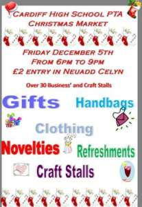 Poster for Cardiff High Christmas Fair