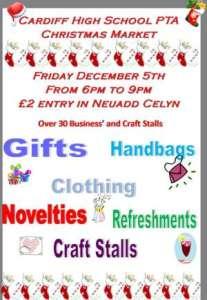 Poster for Cardiff High Christmas Fair