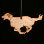 Wooden English Setter ornament