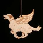 Wooden Winged English Setter ornament