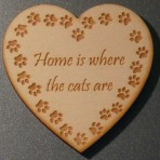 'Home is where the cats are' Heart Fridge Magnet