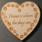 'Home is where the dogs are' Heart Fridge Magnet