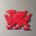 Red Dragon acrylic Fridge Magnet