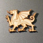 Welsh Dragon Wooden Fridge Magnet