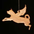 Wooden Winged Rottweiler ornament